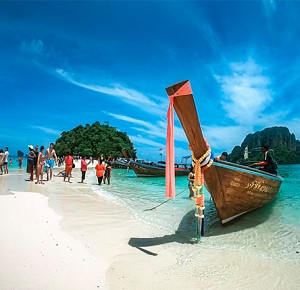 4 Island in Krabi by Longtail Boat