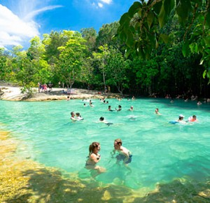 Full Day Tour Emerald Pool and Hot Spring waterfall